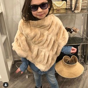 Adorable Fur Poncho for girls.
